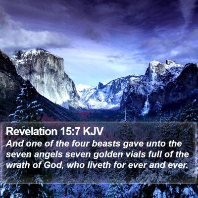 Revelation 15:7 KJV Bible Verse Image