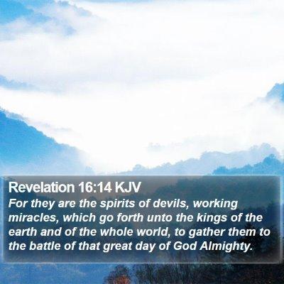 Revelation 16:14 KJV Bible Verse Image