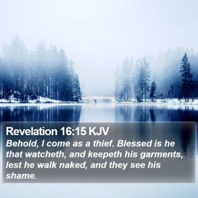 Revelation 16:15 KJV Bible Verse Image