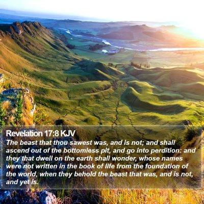 Revelation 17:8 KJV Bible Verse Image