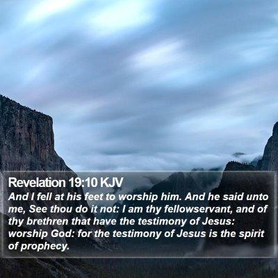 Revelation 19:10 KJV Bible Verse Image
