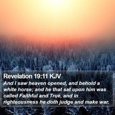 Revelation 19:11 KJV Bible Verse Image