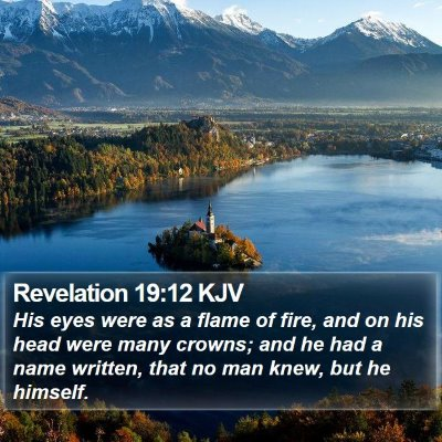 Revelation 19:12 KJV Bible Verse Image
