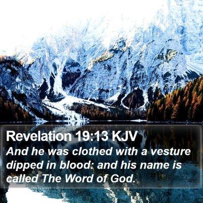 Revelation 19:13 KJV Bible Verse Image