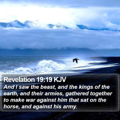 Revelation 19:19 KJV Bible Verse Image