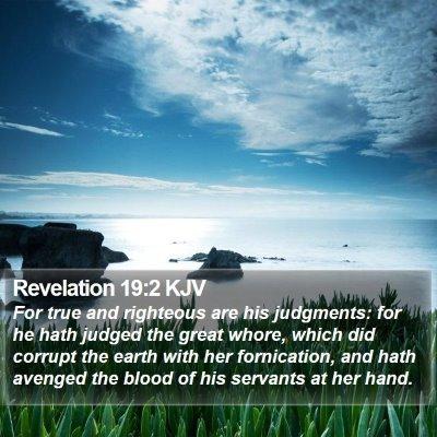 Revelation 19:2 KJV Bible Verse Image