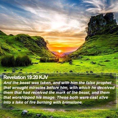 Revelation 19:20 KJV Bible Verse Image