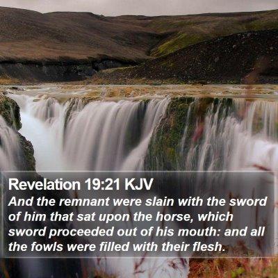 Revelation 19:21 KJV Bible Verse Image