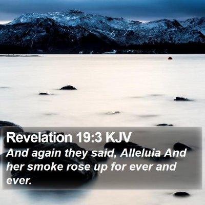 Revelation 19:3 KJV Bible Verse Image