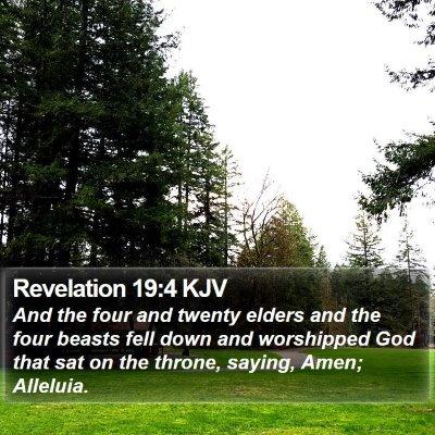 Revelation 19:4 KJV Bible Verse Image