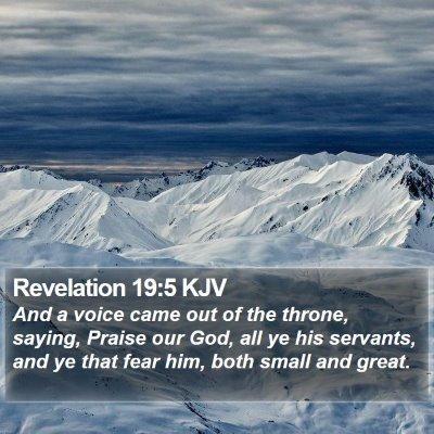 Revelation 19:5 KJV Bible Verse Image
