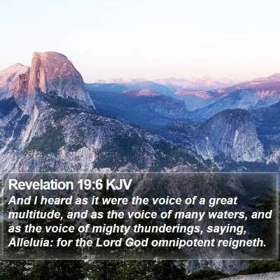 Revelation 19:6 KJV Bible Verse Image