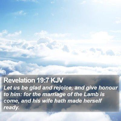 Revelation 19:7 KJV Bible Verse Image