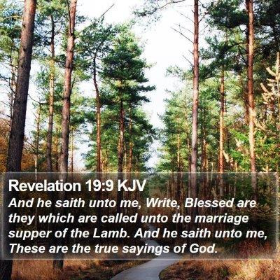Revelation 19:9 KJV Bible Verse Image