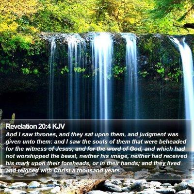 Revelation 20:4 KJV Bible Verse Image