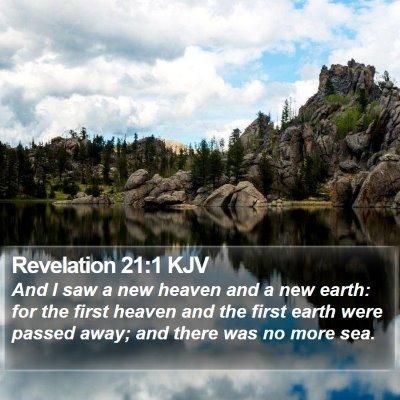 Revelation 21:1 KJV Bible Verse Image