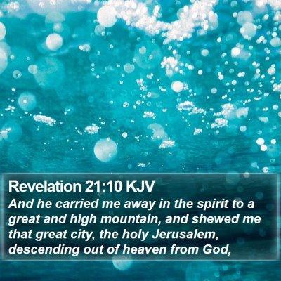 Revelation 21:10 KJV Bible Verse Image