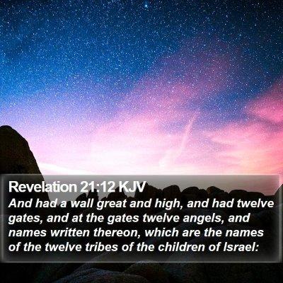 Revelation 21:12 KJV Bible Verse Image