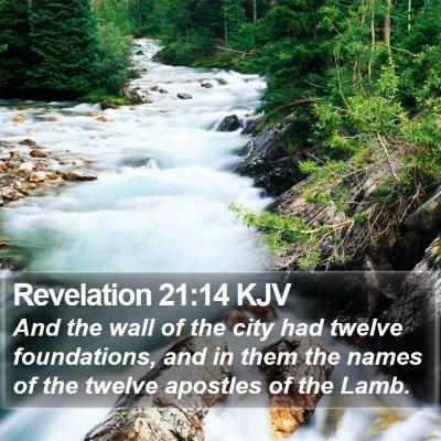 Revelation 21:14 KJV Bible Verse Image