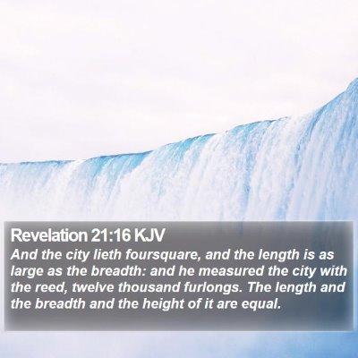 Revelation 21:16 KJV Bible Verse Image