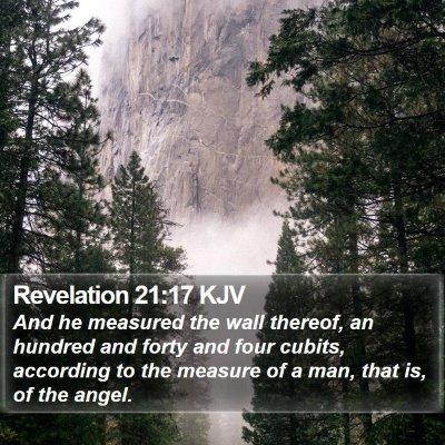 Revelation 21:17 KJV Bible Verse Image