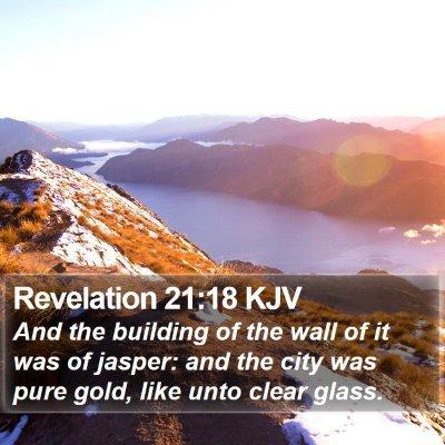 Revelation 21:18 KJV Bible Verse Image