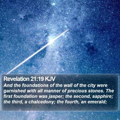 Revelation 21:19 KJV Bible Verse Image