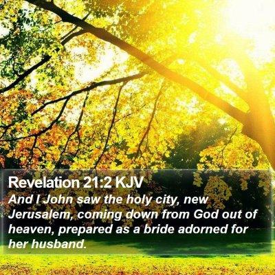 Revelation 21:2 KJV Bible Verse Image