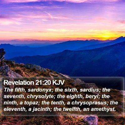 Revelation 21:20 KJV Bible Verse Image