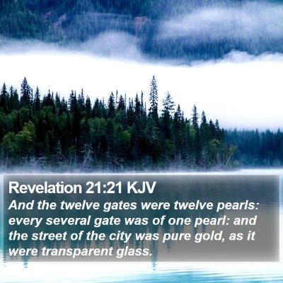 Revelation 21:21 KJV Bible Verse Image