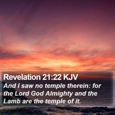 Revelation 21:22 KJV Bible Verse Image