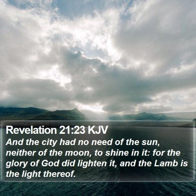 Revelation 21:23 KJV Bible Verse Image