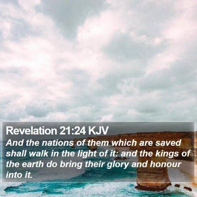 Revelation 21:24 KJV Bible Verse Image