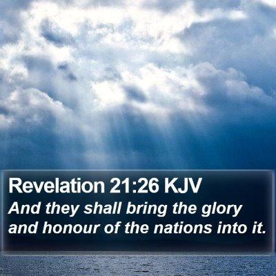 Revelation 21:26 KJV Bible Verse Image