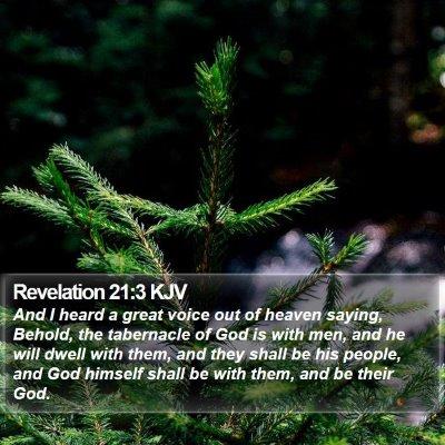 Revelation 21:3 KJV Bible Verse Image