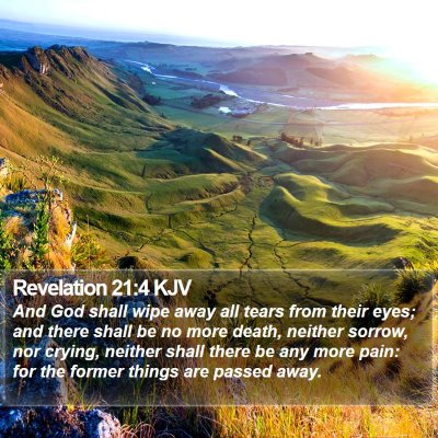 Revelation 21:4 KJV Bible Verse Image