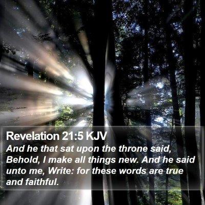 Revelation 21:5 KJV Bible Verse Image