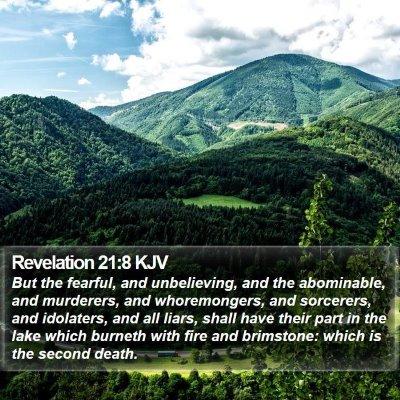 Revelation 21:8 KJV Bible Verse Image
