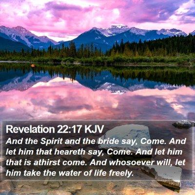 Revelation 22:17 KJV Bible Verse Image