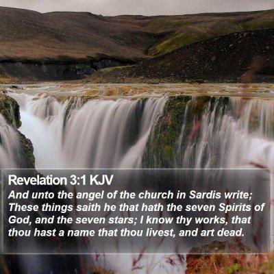 Revelation 3:1 KJV Bible Verse Image