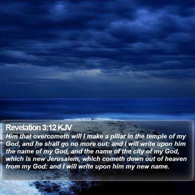 Revelation 3:12 KJV Bible Verse Image