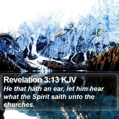 Revelation 3:13 KJV Bible Verse Image