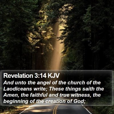 Revelation 3:14 KJV Bible Verse Image