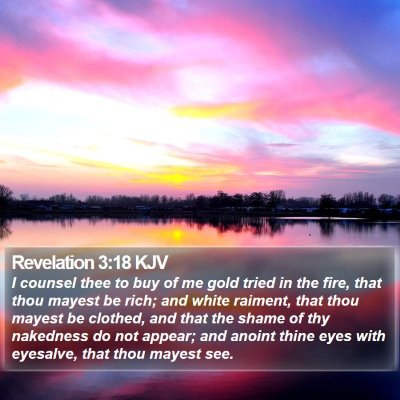 Revelation 3:18 KJV Bible Verse Image