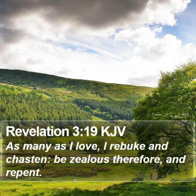Revelation 3:19 KJV Bible Verse Image