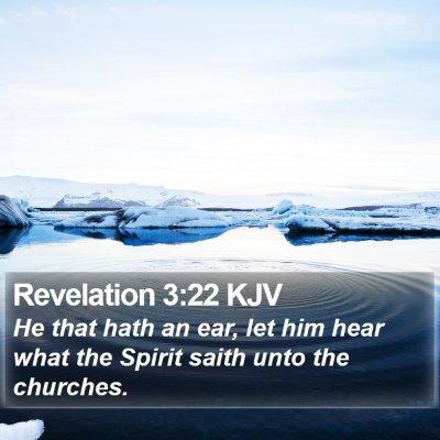 Revelation 3:22 KJV Bible Verse Image