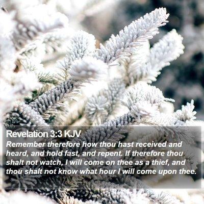 Revelation 3:3 KJV Bible Verse Image