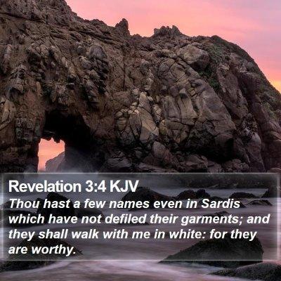 Revelation 3:4 KJV Bible Verse Image
