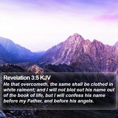 Revelation 3:5 KJV Bible Verse Image