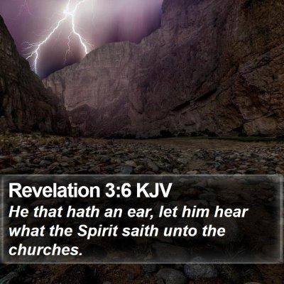 Revelation 3:6 KJV Bible Verse Image